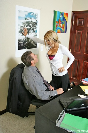 Beautiful tits. Busty office slut Carmel - XXX Dessert - Picture 2
