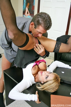 Beautiful tits. Busty office slut Carmel - XXX Dessert - Picture 7