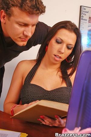 Big tit. Sexy office bitch Rachel Star g - XXX Dessert - Picture 1