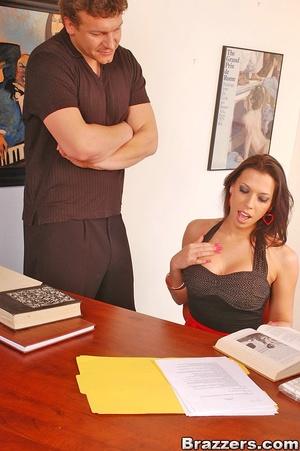 Big tit. Sexy office bitch Rachel Star g - XXX Dessert - Picture 3