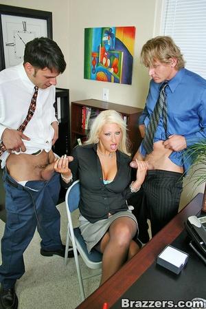 Sexy tits. Busty blonsw secretary gettin - XXX Dessert - Picture 4