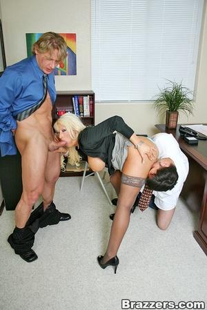 Sexy tits. Busty blonsw secretary gettin - XXX Dessert - Picture 7