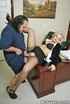 Big boobs. Big titted office girl gets pussy fucked by pizzaman Ron Jeremy.