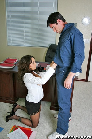 Biggest boobs. Big titted office secreta - XXX Dessert - Picture 7