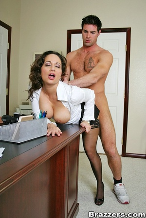 Biggest boobs. Big titted office secreta - XXX Dessert - Picture 11