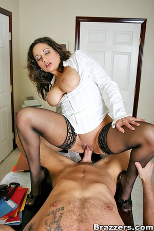 Biggest boobs. Big titted office secreta - XXX Dessert - Picture 15
