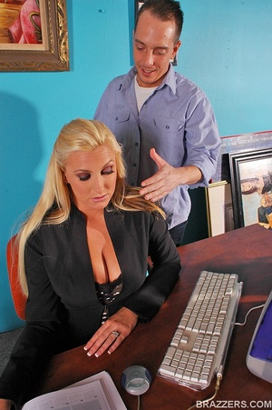 Fuck in office. Big titted sales woman E - XXX Dessert - Picture 1