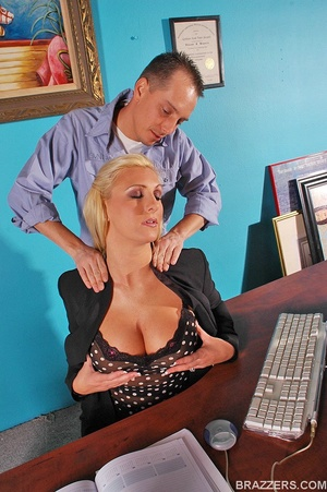 Fuck in office. Big titted sales woman E - XXX Dessert - Picture 2