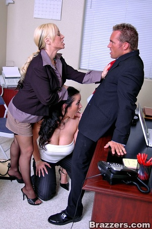 Office girls xxx. 2 busty secretary Carm - XXX Dessert - Picture 8
