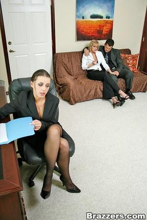 Office secretary busty
