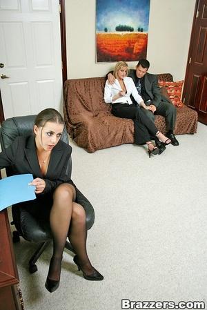 Sexy secretary. Busty office whores Penn - XXX Dessert - Picture 1
