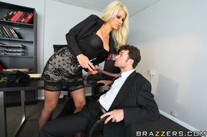 Girls with big tits. Horney blond at wor - XXX Dessert - Picture 7