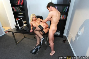 Girls with big tits. Horney blond at wor - XXX Dessert - Picture 13