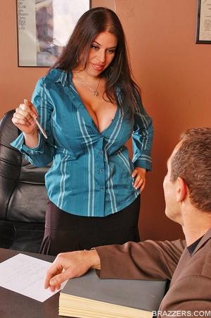 Big boobs porno. Busty office girl Daphn - XXX Dessert - Picture 2