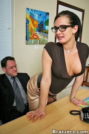 Office girl. Hot office chick with big b - XXX Dessert - Picture 3