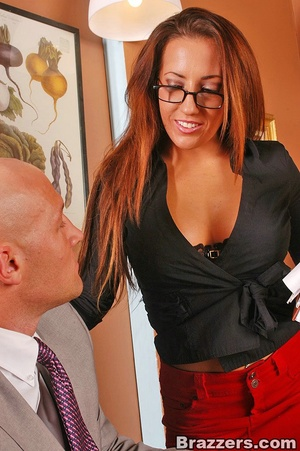 Baby got boobs. Busty office girl Richel - XXX Dessert - Picture 5