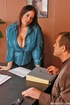Sexy boobs. Busty office girl Daphne Rosen gets busy with a coworker.