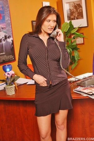 Best boobs. Busty office girl Austin Kin - XXX Dessert - Picture 3