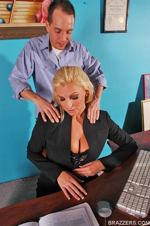 Busty beauties. Hot and busty secretary  - XXX Dessert - Picture 2