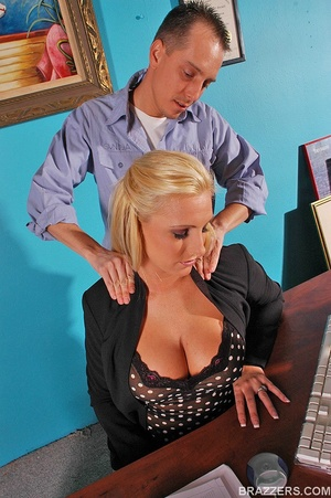 Busty beauties. Hot and busty secretary  - XXX Dessert - Picture 3