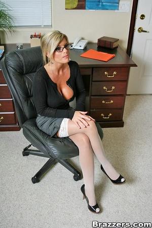 Nice boobs. Busty blonde secretary getti - XXX Dessert - Picture 1
