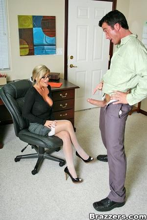 Nice boobs. Busty blonde secretary getti - XXX Dessert - Picture 3