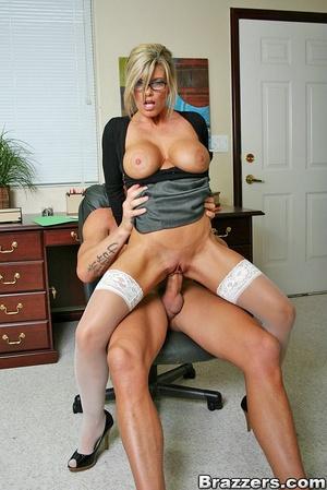 Nice boobs. Busty blonde secretary getti - XXX Dessert - Picture 9