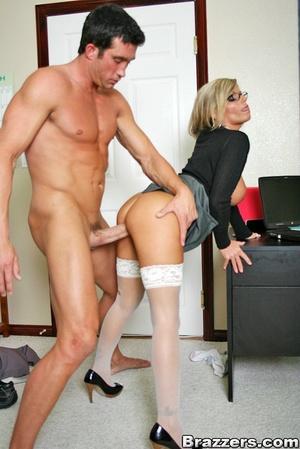 Nice boobs. Busty blonde secretary getti - XXX Dessert - Picture 11