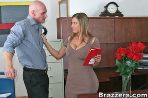 Horny secretary. Devon Lee fucks her val - XXX Dessert - Picture 6