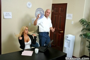 Sexy secretary. Hot blonde Shyla Styles  - XXX Dessert - Picture 3