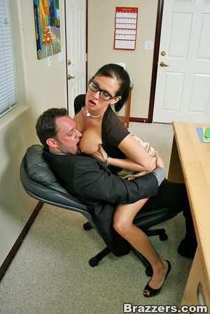 Large breasts. Hot office chick with big - XXX Dessert - Picture 4