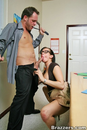Large breasts. Hot office chick with big - XXX Dessert - Picture 7