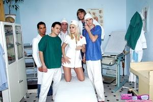 Group porn. Creaming a very sexy nurse o - XXX Dessert - Picture 1