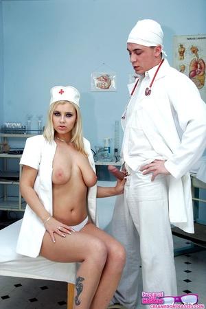 Group porn. Creaming a very sexy nurse o - XXX Dessert - Picture 2