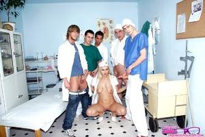 Group porn. Creaming a very sexy nurse o - XXX Dessert - Picture 4