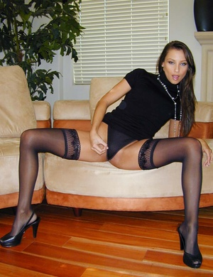 Stockings xxx. She's all dressed up in b - XXX Dessert - Picture 5