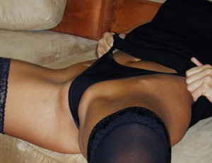 Stockings xxx. She's all dressed up in b - XXX Dessert - Picture 7
