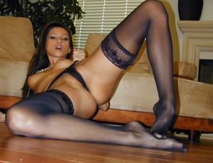 Stockings xxx. She's all dressed up in b - XXX Dessert - Picture 14
