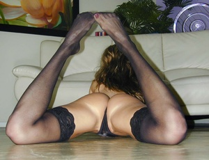 Stockings. In her sexy underwear and wit - XXX Dessert - Picture 11