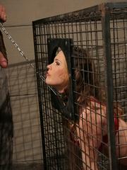 Roughsex. Laurah the caged willing pet got - Unique Bondage - Pic 2