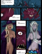 Porn comix. Elf babe fucks a witch.