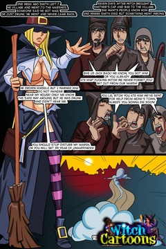 Sexy cartoons. The inquisition of witch's butthole. - Picture 1