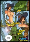 Sexy cartoons. Blowjob for an ogre.