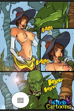 Sexy cartoons. Blowjob for an ogre. - Picture 3