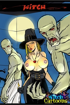 Toon sex. Ghouls make witch eat cum. - Picture 1