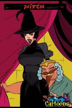 Cartoon porn comics. Evil king bangs his sorceress. - Picture 1