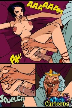 Cartoon porn comics. Evil king bangs his sorceress. - Picture 3