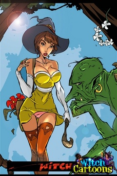 Cartoon porn. Sorceress's twat offered to ogre. - Picture 1