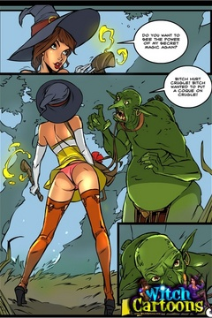Cartoon porn. Sorceress's twat offered to ogre. - Picture 2