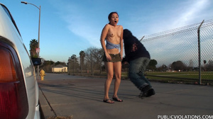 Outdoor public sex. Rooftop blowjob from - XXX Dessert - Picture 13